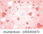 hand drawn heart background | Shutterstock .eps vector #1303303672