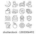 set of customer satisfaction ... | Shutterstock .eps vector #1303306492