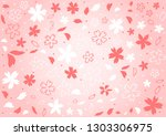 hand drawn cherry blossom... | Shutterstock .eps vector #1303306975