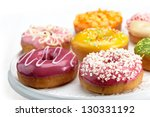 fresh baked donuts - stock photo