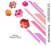valentine's day  gift  greeting ... | Shutterstock .eps vector #1303320115