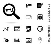 keyword research icon. seo  ... | Shutterstock .eps vector #1303327528
