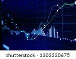 stock exchange market graph on... | Shutterstock . vector #1303330675