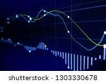stock exchange market graph on... | Shutterstock . vector #1303330678