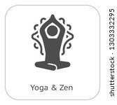 yoga meditation and zen icon.... | Shutterstock .eps vector #1303332295