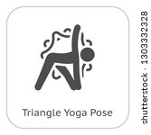 yoga triangle pose icon. flat... | Shutterstock .eps vector #1303332328