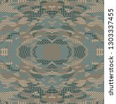 quirky tapestry pattern.... | Shutterstock .eps vector #1303337455