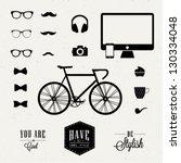 hipster style | Shutterstock .eps vector #130334048