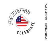 black history month vector... | Shutterstock .eps vector #1303345192