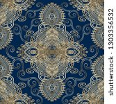ethnic lace textured embroidery ... | Shutterstock .eps vector #1303356532