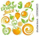 healthy food concept. set of...   Shutterstock .eps vector #130336025
