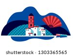 andalucian vector illustration... | Shutterstock .eps vector #1303365565