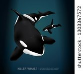 killer whale under the sea... | Shutterstock .eps vector #1303367572
