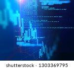 financial stock market graph on ... | Shutterstock . vector #1303369795