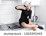 a young attractive girl with a... | Shutterstock . vector #1303392445