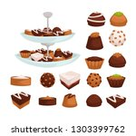 bakery products cakes and... | Shutterstock .eps vector #1303399762