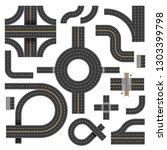 street road urban crossroads... | Shutterstock .eps vector #1303399798