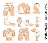 bandaging body parts bandage... | Shutterstock .eps vector #1303399942