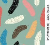 feather seamless background | Shutterstock .eps vector #130340186