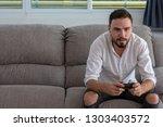 portrait young handsome man... | Shutterstock . vector #1303403572