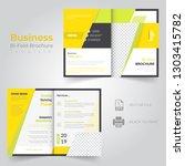 business bi fold brochure or... | Shutterstock .eps vector #1303415782