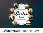happy easter sale background... | Shutterstock .eps vector #1303418695