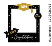 graduation party photo booth... | Shutterstock . vector #1303426015