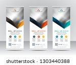 roll up banner stand template... | Shutterstock .eps vector #1303440388
