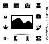 photo icon. simple glyph...