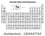 periodic table of the elements  ... | Shutterstock .eps vector #1303447765