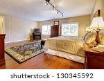 large bedroom with hardwood... | Shutterstock . vector #130345592