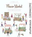 flower market poster with... | Shutterstock .eps vector #1303461592