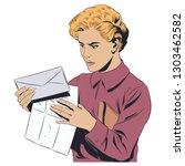stock illustration. girl with... | Shutterstock .eps vector #1303462582
