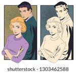 stock illustration. woman being ... | Shutterstock .eps vector #1303462588
