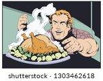 stock illustration. fat man...   Shutterstock .eps vector #1303462618