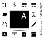 files  text icon. simple glyph  ...