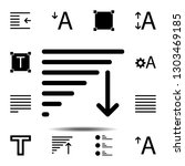 alignment text icon. simple...