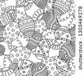 vector seamless simple pattern... | Shutterstock .eps vector #1303469278
