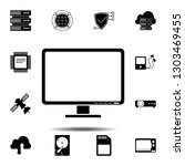 computer monitor icon. simple...