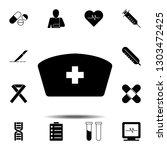 nurse hat icon. simple glyph...