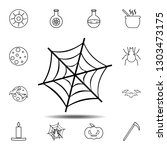 spider web icon. simple outline ...