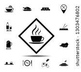 sign  tea icon. simple glyph...