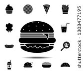 burger icon. simple glyph...