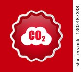 carbon dioxide icon on glossy... | Shutterstock .eps vector #1303487338
