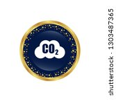 carbon dioxide icon on glossy... | Shutterstock .eps vector #1303487365