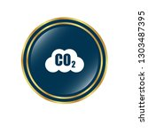 carbon dioxide icon on glossy... | Shutterstock .eps vector #1303487395