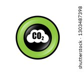 carbon dioxide icon on glossy... | Shutterstock .eps vector #1303487398