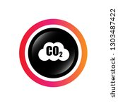 carbon dioxide icon on glossy... | Shutterstock .eps vector #1303487422