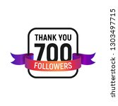700 followers number with color ... | Shutterstock .eps vector #1303497715
