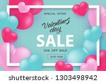 valentine day sale and special... | Shutterstock .eps vector #1303498942